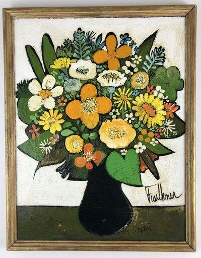 Henry Faulkner, 'Vibrant Still Life of Flowers', 1960-1981