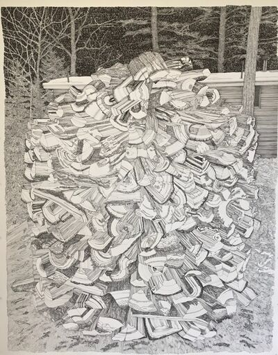 Ray Cicin, 'Beehive Woodpile', 2019