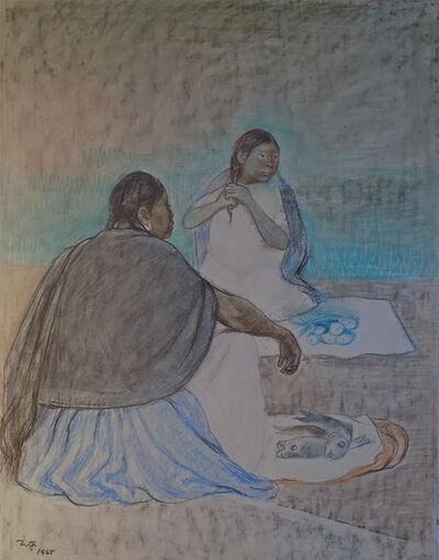 Francisco Zúñiga, 'Mujeres Sentadas', 1965
