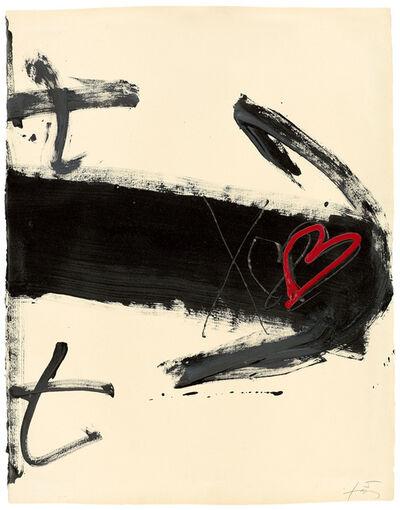 Antoni Tàpies, 'COR SOBRE FLETXA', 1983