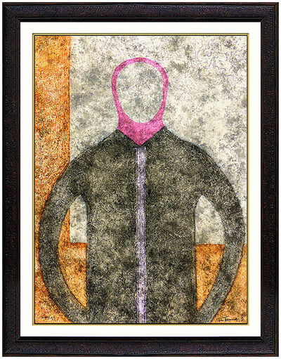 Rufino Tamayo, 'Rufino Tamayo Authentic Original Artwork Color Etching Signed Portrait Personaje', 1970-1989