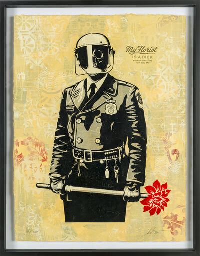 Shepard Fairey, 'My Florist is a Dick, HPM', 2015
