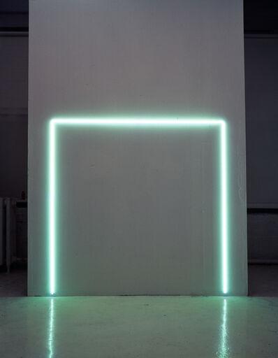 Stephen Antonakos, 'EGL Green Incomplete Neon Square', 1974