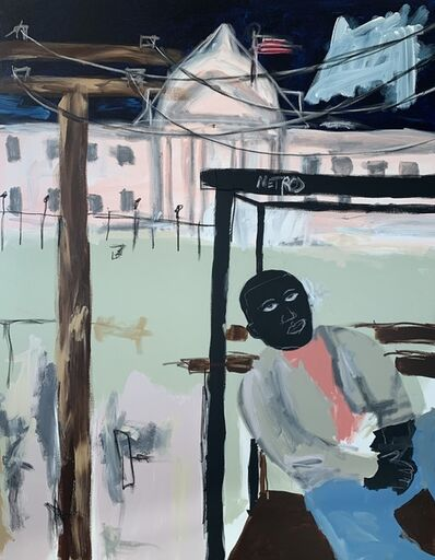 Jammie Holmes, 'Bus Stop At The White House', 2019