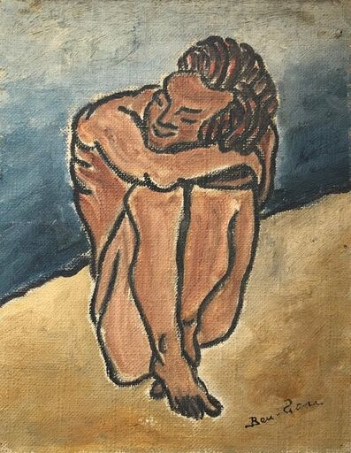 Ben-Zion Weinman, 'American Modernist Oil Painting Nude Male on Beach WPA Artist Group of 10', Mid-20th Century