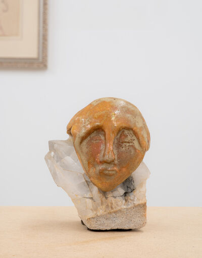 Beatrice Wood, 'Untitled (Head mounted on quartz)', ca. 1960