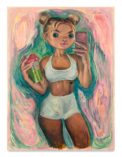 Delia Brown, 'Green Juice', 2020