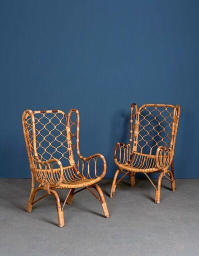 Travail Italien, 'Pair of armchairs', vers 1960