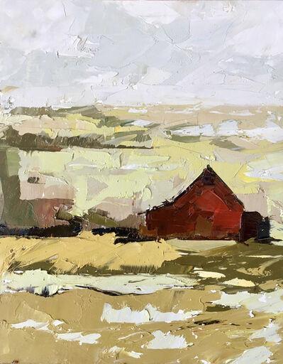 Sandra Pratt, 'Red barn in Ochre Field', 2021