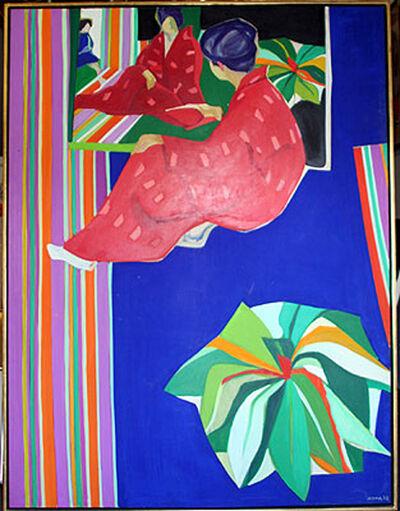 Tadashi Asoma, 'Toshiko with Plant', 1968