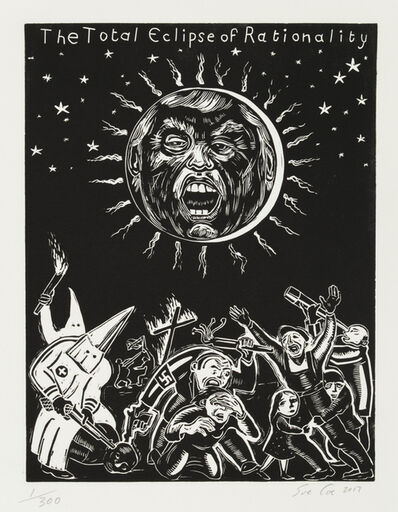 Sue Coe, 'Total Eclipse of Rationality', 2017