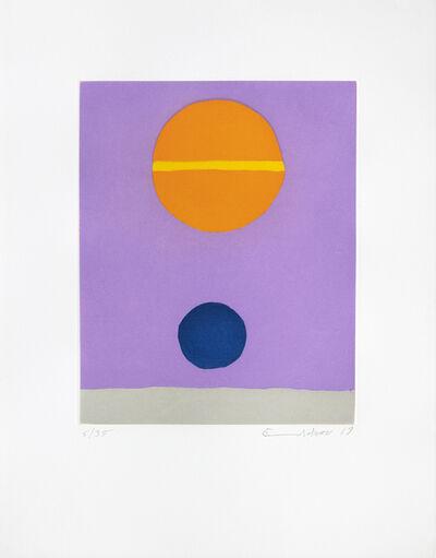 Etel Adnan, 'Poids de la Lune V', 2019
