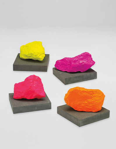Ugo Rondinone, '4 works: (i) Small Yellow Mountain; (ii) Small Pink Mountain; (iii) Small Orange Mountain; (iv) Small Violet Mountain', 2016