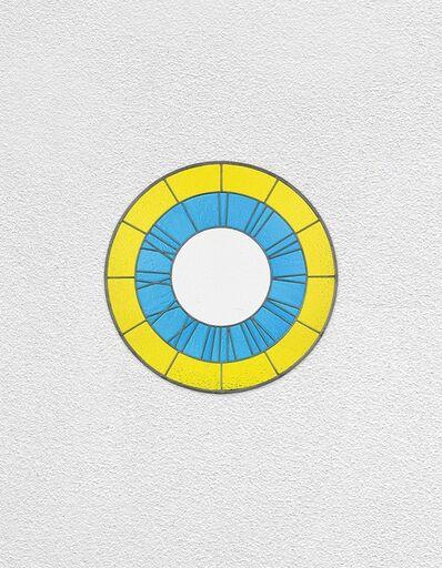 Ugo Rondinone, 'yellow blue white clock', 2016