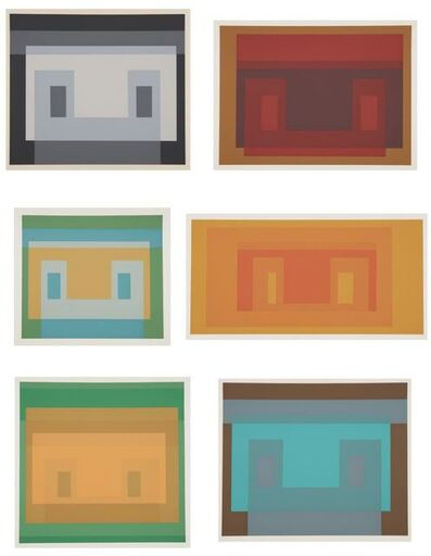 Josef Albers, 'Six Variants', 1969