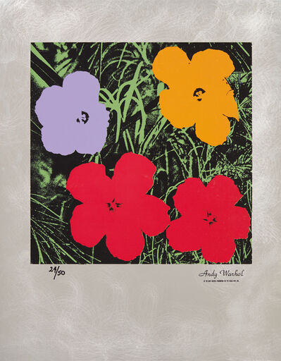 Andy Warhol, 'Flowers: Master American Contemporaries', 1994