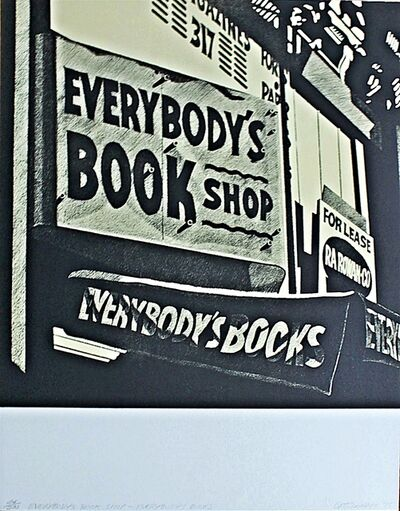 Robert Cottingham, 'Everybody's Bookshop, Everybody's Books', 1975