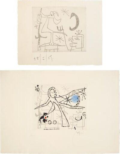 Joan Miró, 'L'oiseau Dresse: Two Impressions', 1960