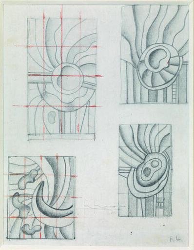 Fernand Léger, 'Etudes Pour Des Compositions Abstraites', 1950 circa