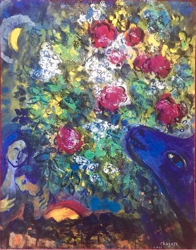 Marc Chagall, 'Âne bleu aux fleurs', 1957