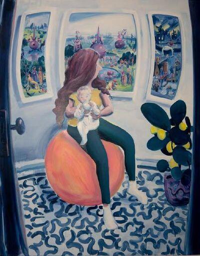 Hilary Doyle, 'Mother and Child on a Yoga Ball III (Garden of Earthly Delights)', 2020