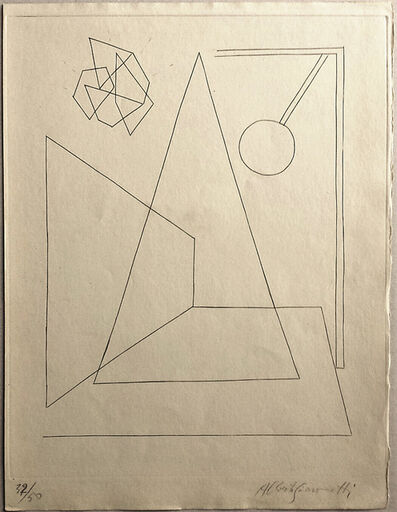 Alberto Giacometti, '[Composition I] Planche pour le portfolio d'Anatole Jakovski', 1934-1935