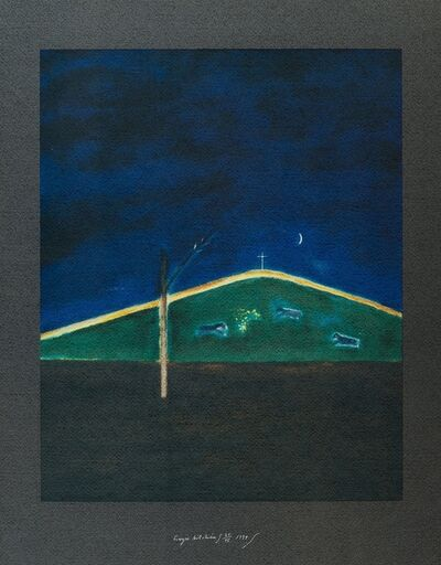 Craigie Aitchison, 'Sheep in the Moonlight', 1999