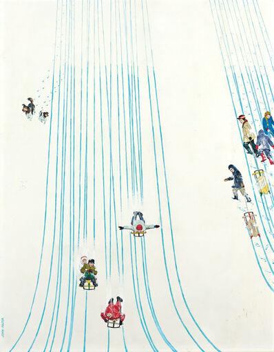 John Philip Falter, 'Swell Ride Down, Saturday Evening Post Cover', 1961