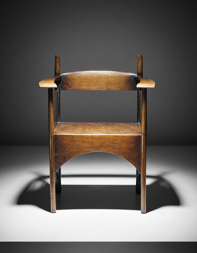 Charles Rennie Mackintosh, 'Armchair with low back, designed for the Billiards and Smoking Rooms, Argyle Street Tea Rooms', 1898-1899