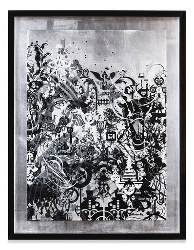 Ryan McGinness, 'Fear Attacks Courage Waits', 2014
