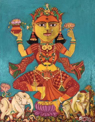 Laxma Goud, 'Goddess Laxmi, the Goddess of Wealth', 2018