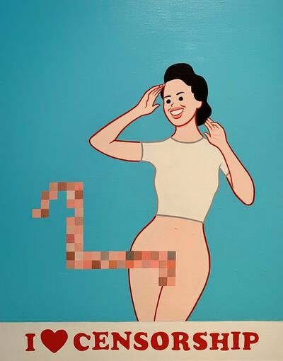 Joan Cornellà, 'I love Censorship', 2019