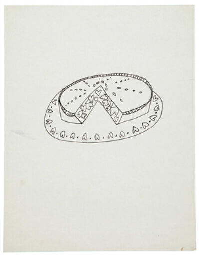 Andy Warhol, 'Pie With Hearts', 1951