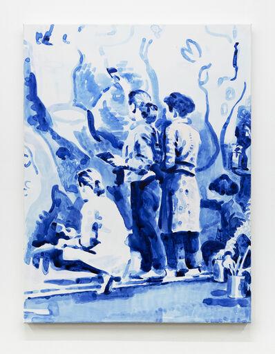 Tim Braden, 'Muralists in Blue', 2020