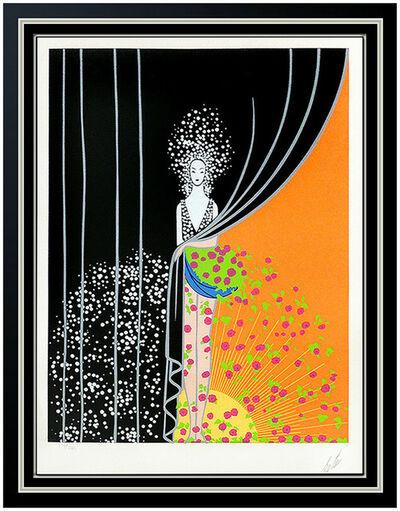 Erté (Romain de Tirtoff), 'Erte Printemps Original Color Serigraph Hand Signed Art Deco Set Design Art', 1975