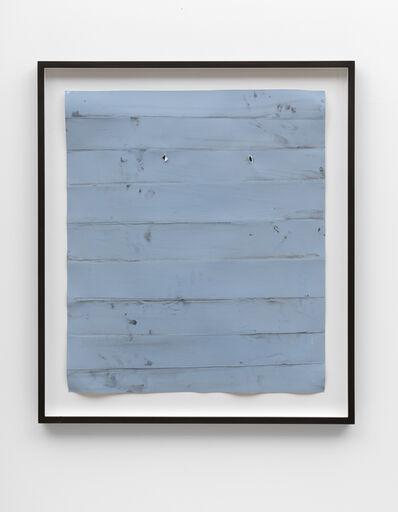 Özcan Kaplan, 'Papierarbeit (blau) #3, Januar 2018', 2018