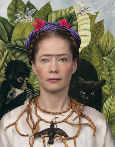 E2 - KLEINVELD & JULIEN, 'Ode to Frida Kahlo's Self-Portrait with Thorn Necklace and Hummingbird', 2018