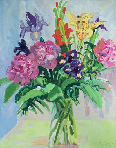 Nell Blaine, 'Bouquet with Peonies and Empire Lily'
