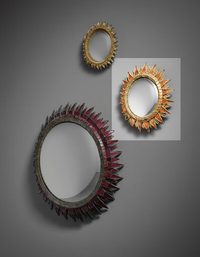 Line Vautrin, ''Soleil à Pointes' mirror, model no. 2', 1950s
