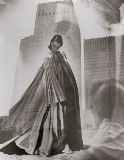 Maurice Tabard, 'Double Exposure of Fashion Model and Buildings/Man', 1948/1970s
