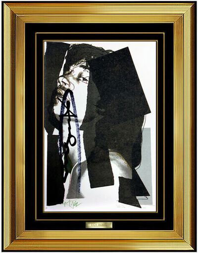 Andy Warhol, 'Andy Warhol Color Lithograph Mick Jagger Hand Signed Portrait Artwork Silkscreen', 1975