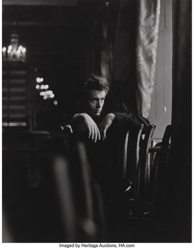 Roy Schatt, 'James Dean, on set of The Thief', 1954