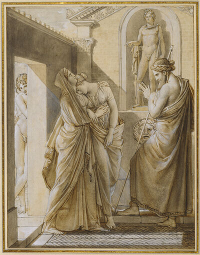 François-Pascal-Simon, called Baron Gérard, 'The Father of Psyche Consulting the Oracle of Apollo', 1796