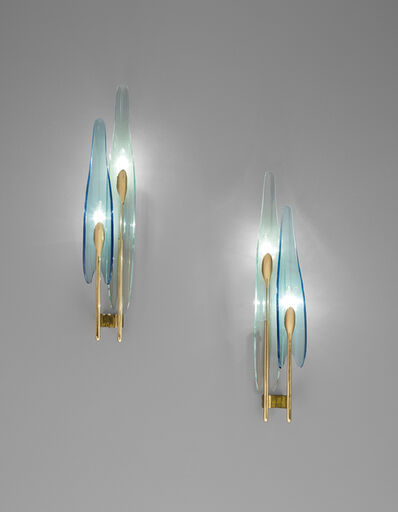 Max Ingrand, 'Pair of 'Dahlia' wall lights, model no. 1461', 1950s