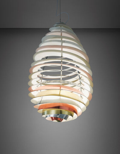 """Poul Henningsen, 'Rare """"Spiral"""" ceiling light, designed for the Headquarters Assembly Hall, Danish Consumers Cooperative Society, Albertslund', 1964"""