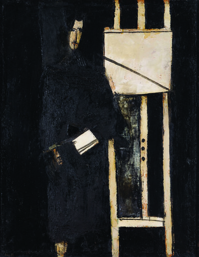 LJUBO IVANČIĆ, 'Self-portrait with Easel', 1958