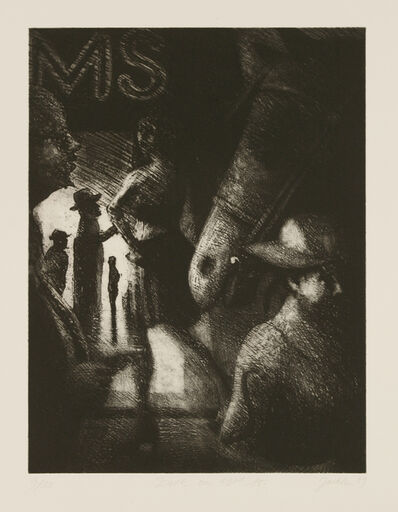 Bill Jacklin, 'Dusk On 42Nd St.', 1989