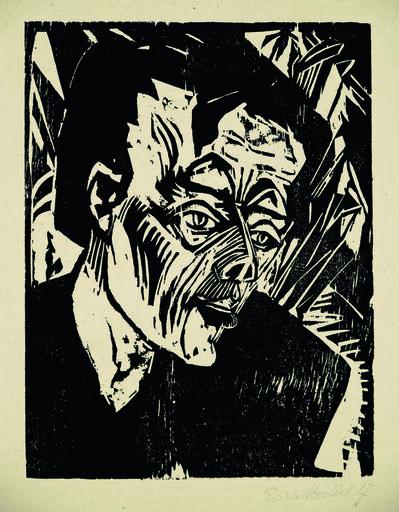 Erich Heckel, 'Roquairol (Bildnis Ernst Ludwig Kirchner)', 1917