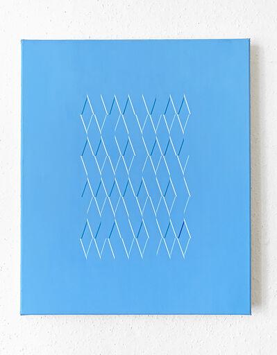 Isaac Chong Wai, '107 lines in blue', 2020