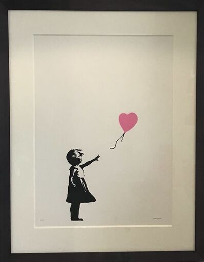 Banksy, 'Girl with Balloon (Pink)', 2004